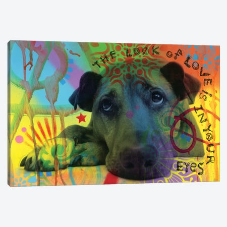 The Look Of Love Canvas Print #DRO613} by Dean Russo Canvas Artwork