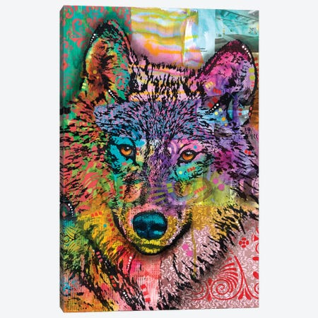 Wolf Lens Eye Canvas Print #DRO615} by Dean Russo Art Print