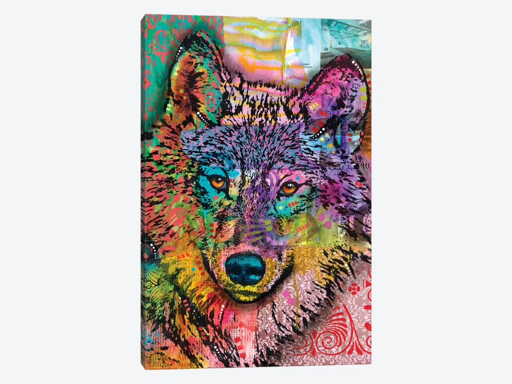 Wolf Lens Eye by Dean Russo 1-piece Art Print