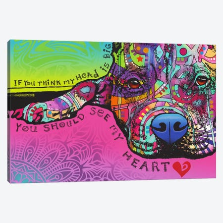 You Should See My Heart Canvas Print #DRO617} by Dean Russo Art Print