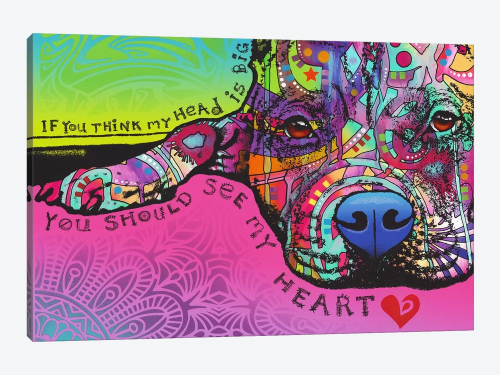 You Should See My Heart by Dean Russo 1-piece Canvas Print