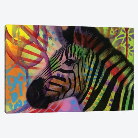 Zebra Canvas Print #DRO618} by Dean Russo Canvas Artwork