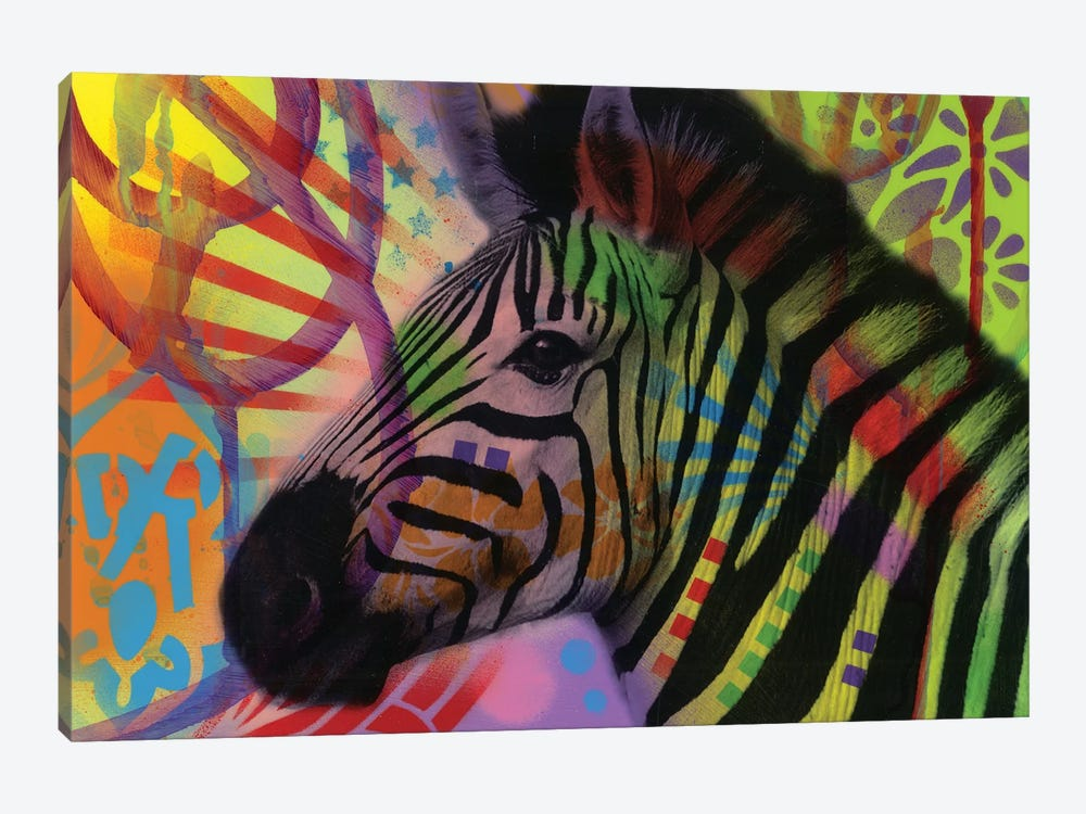 Zebra by Dean Russo 1-piece Canvas Art