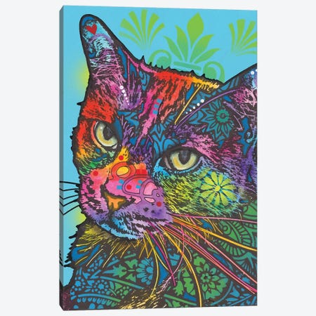 Zeus The Cat Canvas Print #DRO619} by Dean Russo Canvas Art