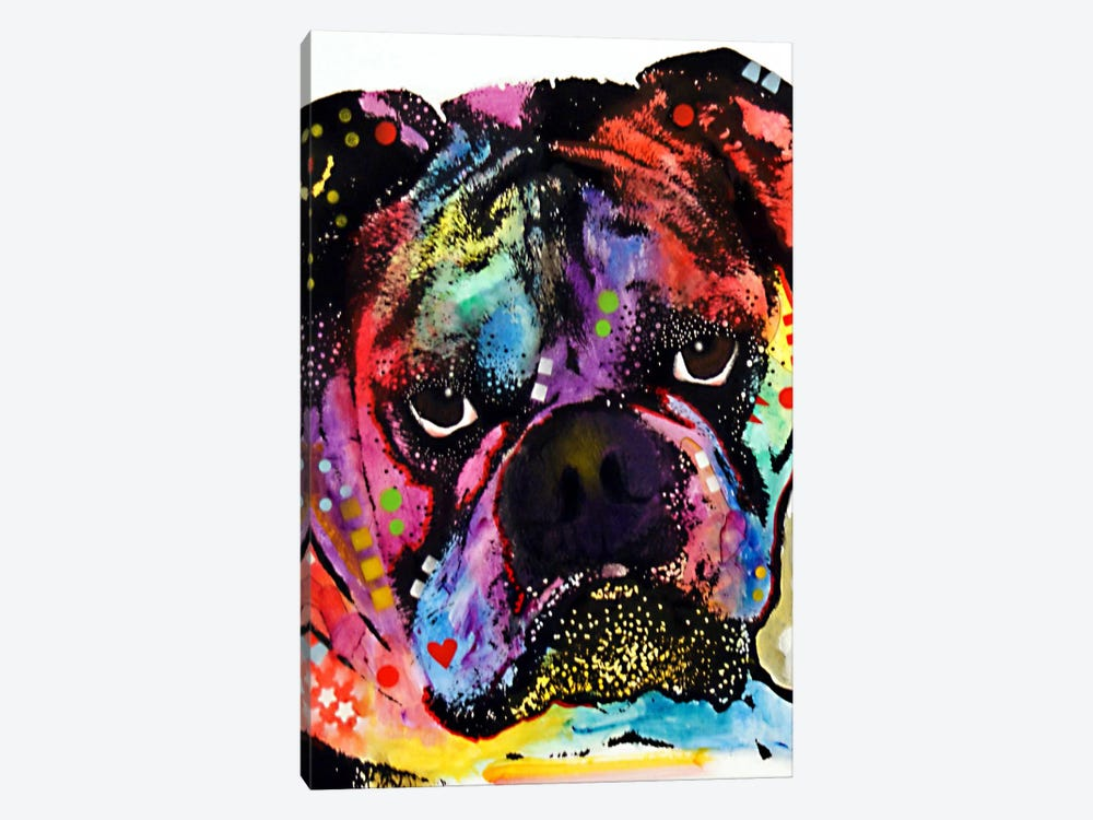 Bulldog by Dean Russo 1-piece Canvas Art