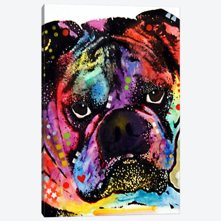 Bulldog Canvas Print #DRO61} by Dean Russo Canvas Wall Art