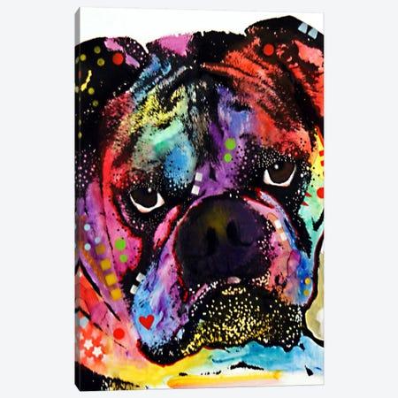 Bulldog Canvas Print #DRO61} by Dean Russo Canvas Wall Art