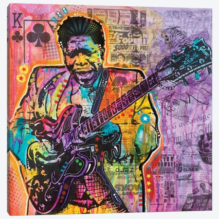 B.B. King Canvas Print #DRO623} by Dean Russo Canvas Print