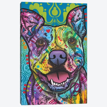 Butters, Pit Bull Canvas Print #DRO625} by Dean Russo Canvas Artwork