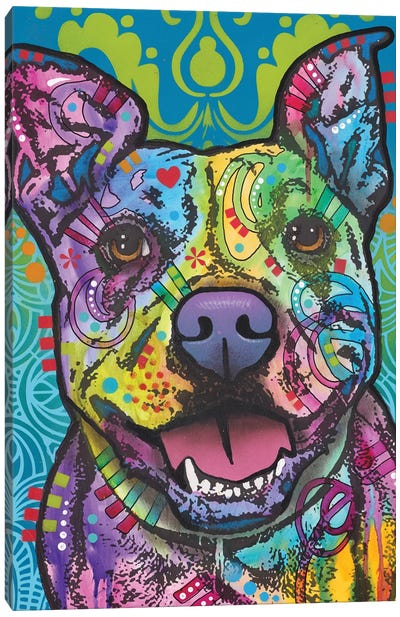 Butters, Pit Bull Canvas Art Print