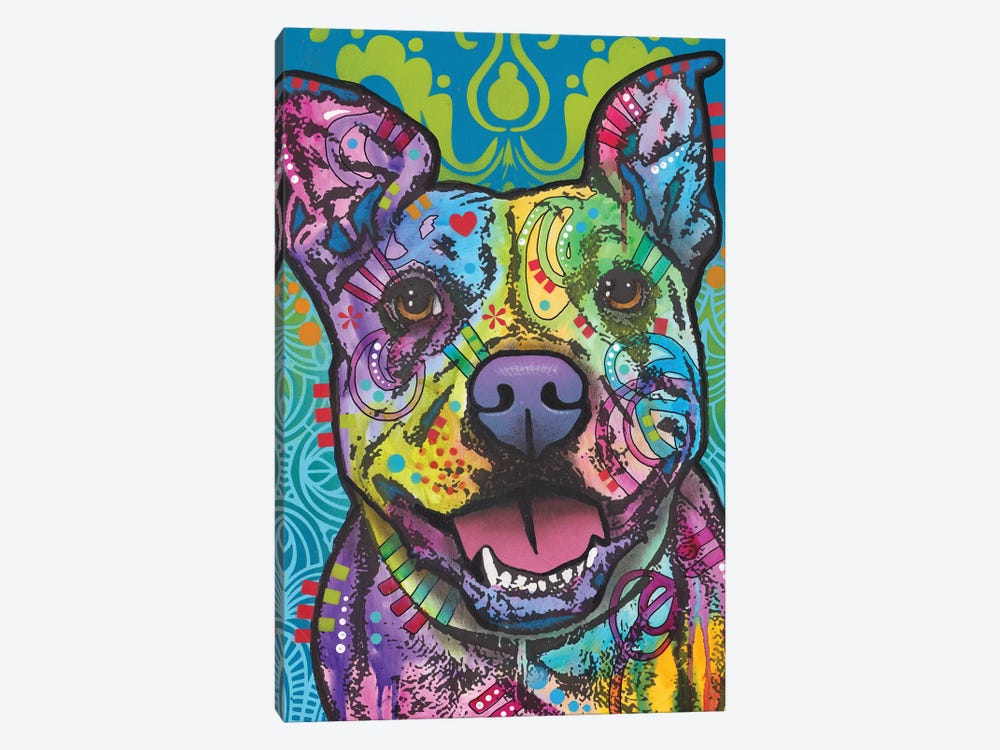 Butters, Pit Bull by Dean Russo 1-piece Canvas Wall Art