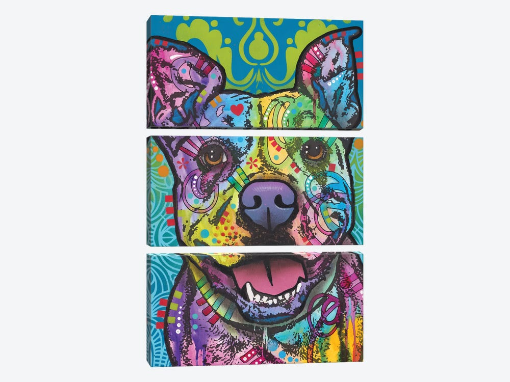 Butters, Pit Bull by Dean Russo 3-piece Canvas Art