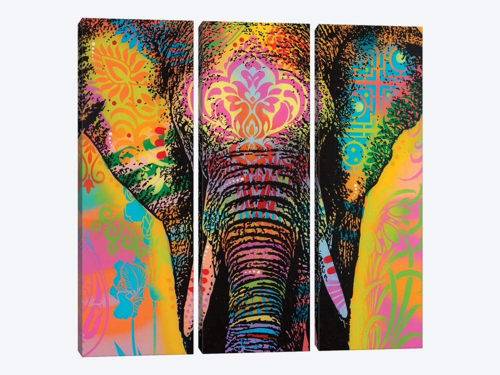 Eleph by Dean Russo 3-piece Canvas Print