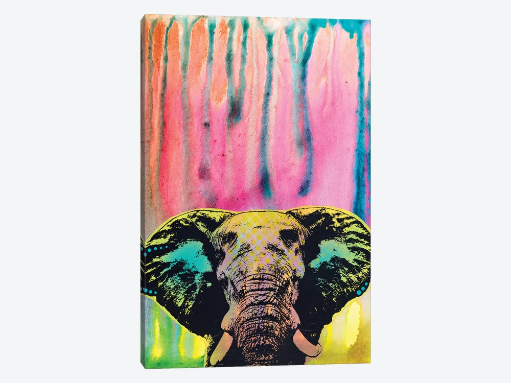 Elephant by Dean Russo 1-piece Canvas Wall Art
