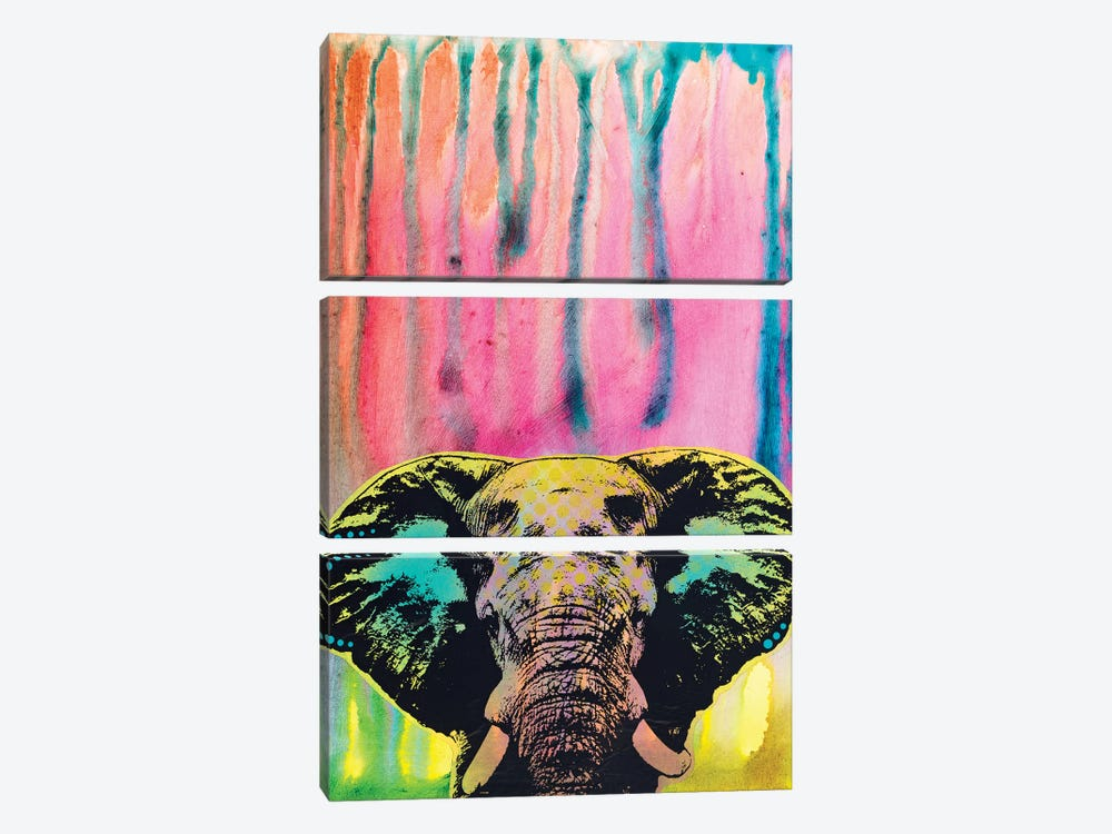 Elephant by Dean Russo 3-piece Canvas Wall Art