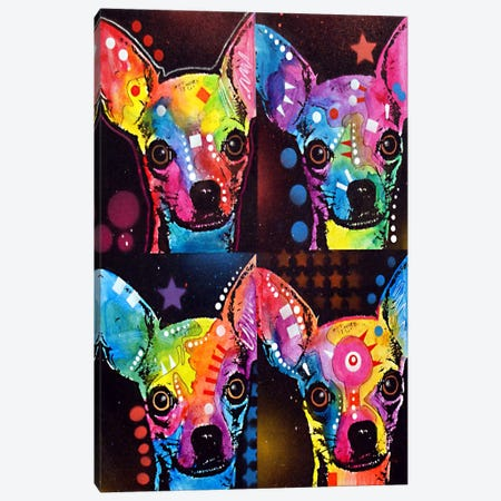 Chihuahua 4x Canvas Print #DRO62} by Dean Russo Canvas Wall Art