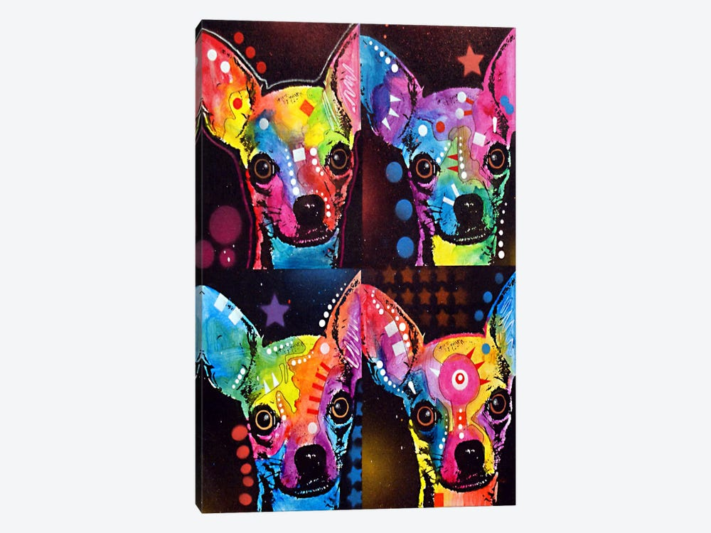 Chihuahua 4x by Dean Russo 1-piece Canvas Print