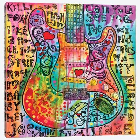Jimi's Guitar Canvas Print #DRO635} by Dean Russo Canvas Print