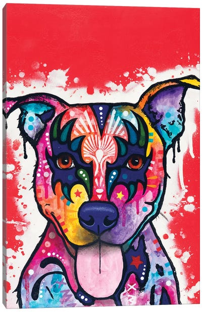 Kiss Dog Canvas Art Print