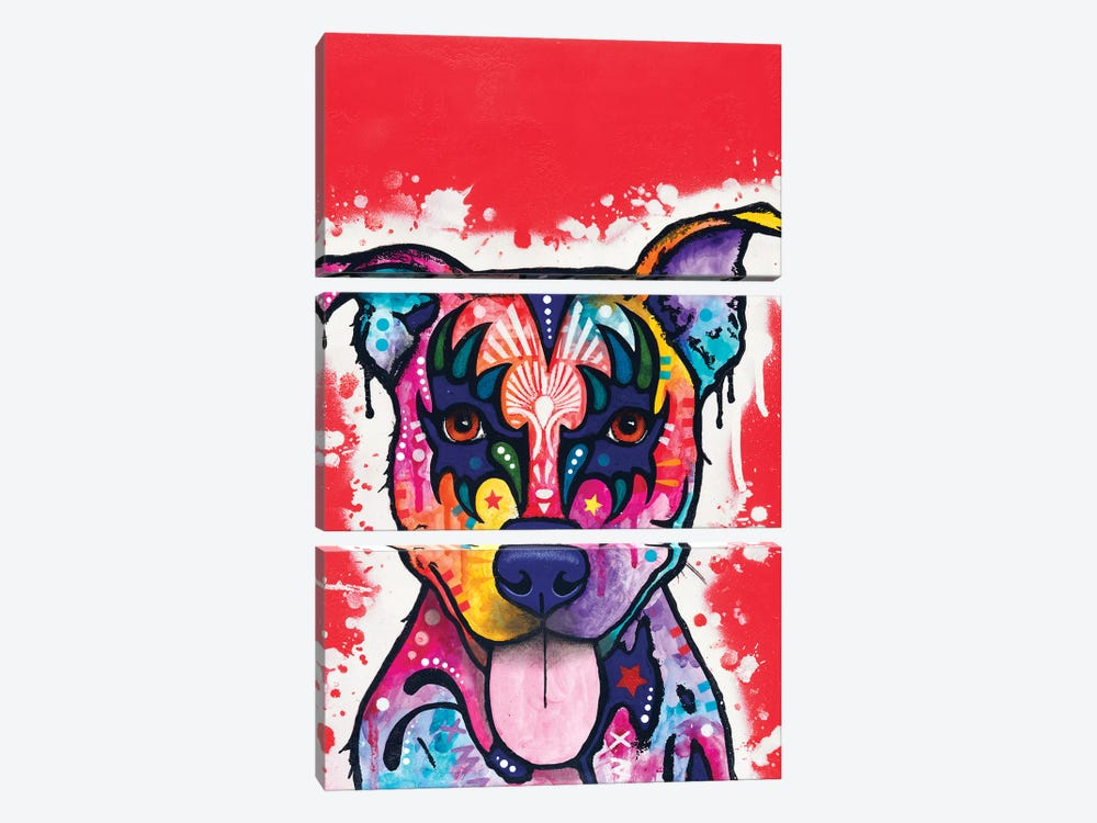 Kiss Dog by Dean Russo 3-piece Canvas Wall Art