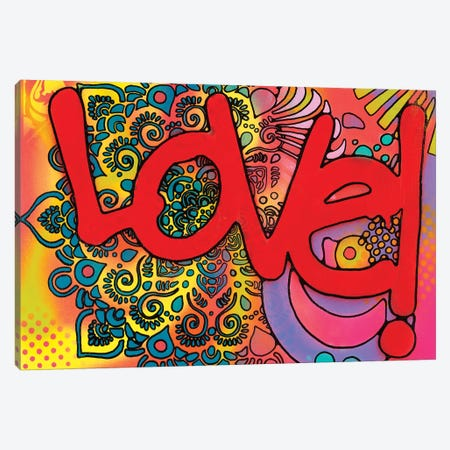 Love I Canvas Print #DRO638} by Dean Russo Canvas Wall Art