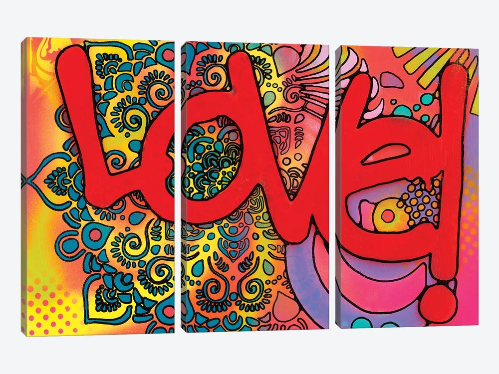 Love I by Dean Russo 3-piece Canvas Artwork