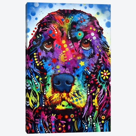 Cocker Spaniel II Canvas Print #DRO63} by Dean Russo Canvas Artwork
