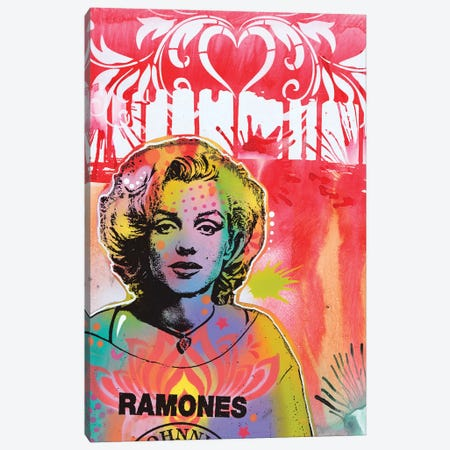 Marilyn's A Punk Canvas Print #DRO641} by Dean Russo Canvas Art Print