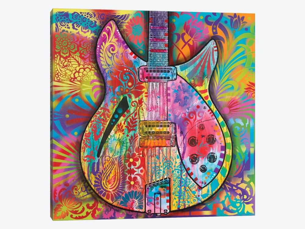 Vintage 12-String 1-piece Canvas Art