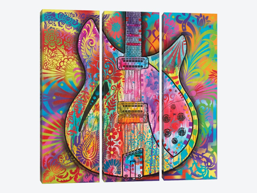 Vintage 12-String by Dean Russo 3-piece Canvas Wall Art