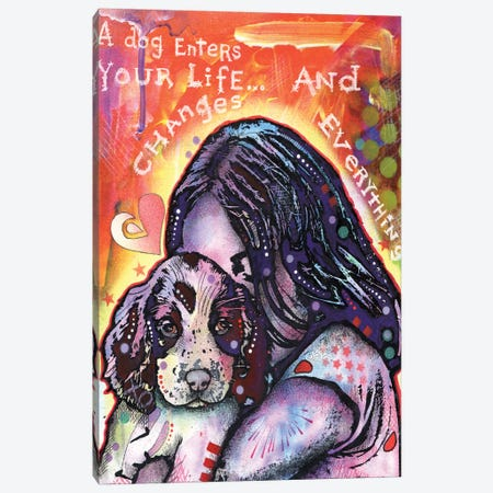 A Dog Changes Everything Canvas Print #DRO652} by Dean Russo Canvas Artwork