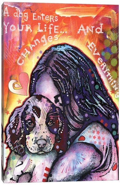 A Dog Changes Everything Canvas Art Print