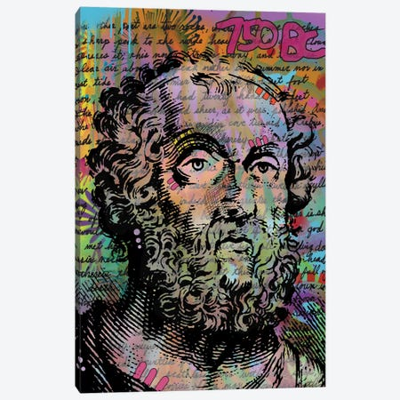 Homer Canvas Print #DRO666} by Dean Russo Canvas Artwork