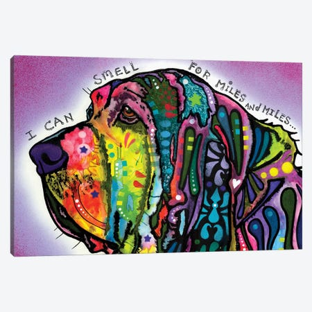 I Can Smell (Bloodhound) Canvas Print #DRO667} by Dean Russo Canvas Artwork