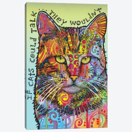 If Cats Could Talk Canvas Print #DRO668} by Dean Russo Canvas Art Print