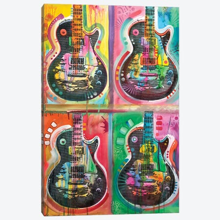 Les Paul 4UP Canvas Print #DRO674} by Dean Russo Canvas Print