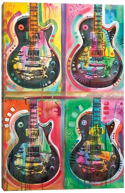 Les Paul 4UP Canvas Art Print