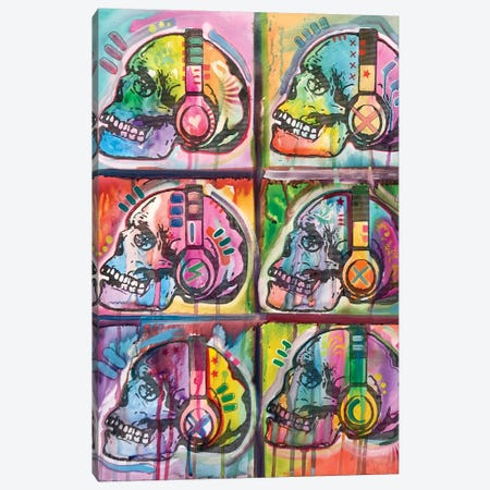 Live Music 6UP Canvas Print #DRO678} by Dean Russo Canvas Artwork