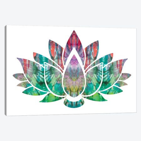 Lotus 3-Piece Canvas #DRO679} by Dean Russo Canvas Wall Art