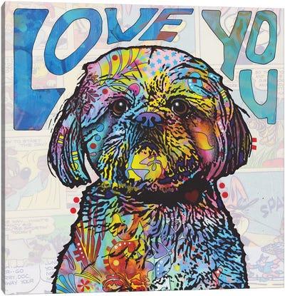 Love You Shih Tzu Canvas Art Print