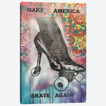 Make America Skate Again Canvas Print #DRO685} by Dean Russo Canvas Artwork