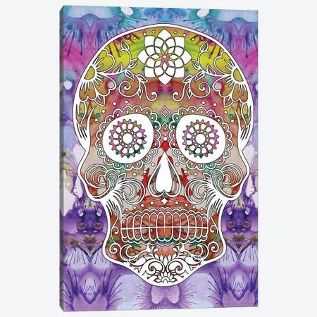 Sugar Skull Canvas Print #DRO697} by Dean Russo Canvas Print