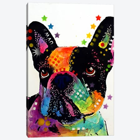 French Bulldog I Canvas Print #DRO69} by Dean Russo Canvas Art