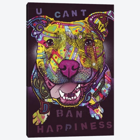 U Cant Ban Happiness Canvas Print #DRO701} by Dean Russo Canvas Artwork