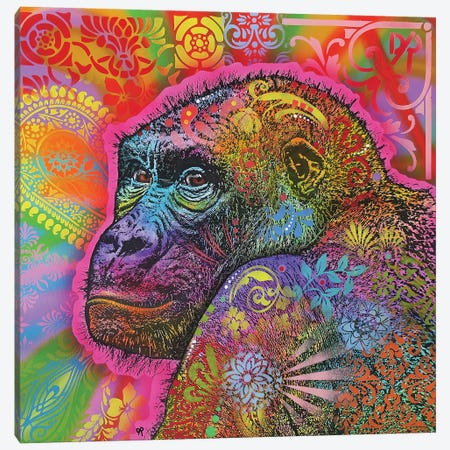 Gorilla Canvas Print #DRO704} by Dean Russo Canvas Print