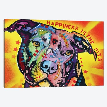 Happiness Is The Pits Sunray Canvas Print #DRO707} by Dean Russo Canvas Art Print