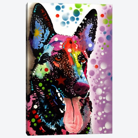 German Shepherd Canvas Print #DRO70} by Dean Russo Art Print