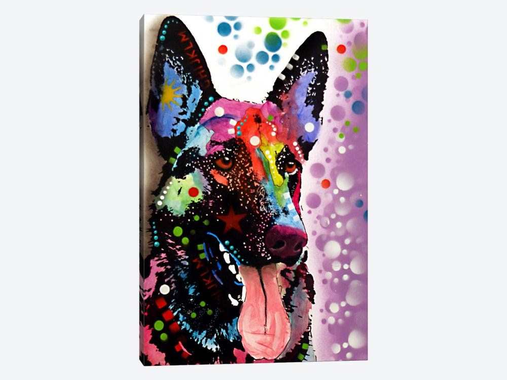 German Shepherd by Dean Russo 1-piece Canvas Artwork