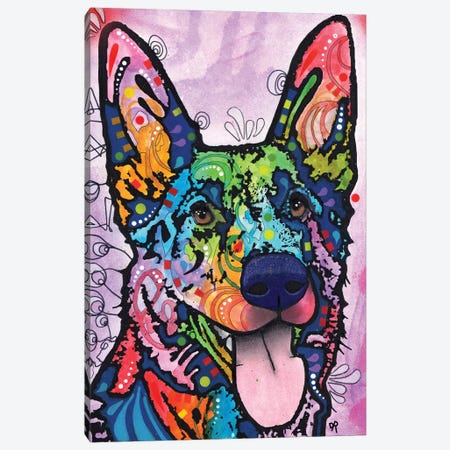 Shepherd Love Canvas Print #DRO721} by Dean Russo Canvas Artwork