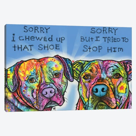 Sorry Canvas Print #DRO722} by Dean Russo Canvas Wall Art